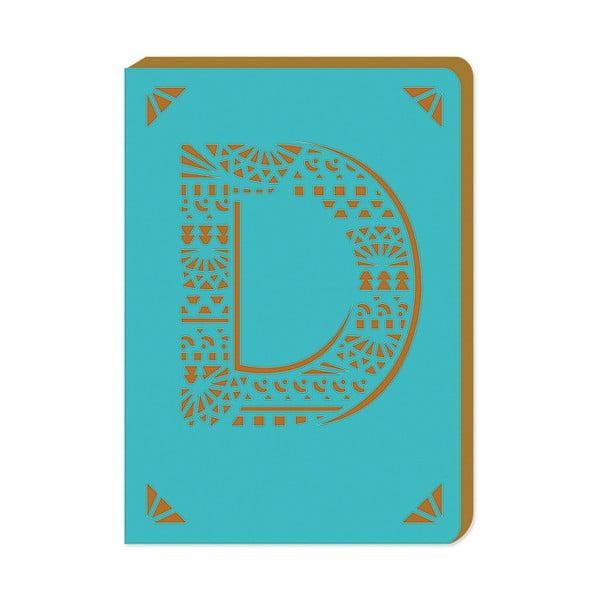Linkovaný zápisník A6 s monogramem Portico Designs D, 160stránek