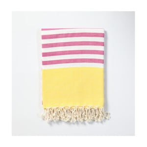 Hamam osuška z ručně tkané bavlny ZFK Sigrun, 170x100cm