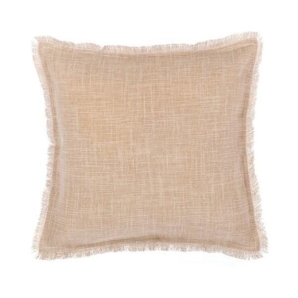 Jasnobrązowa poszewka na poduszkę Tiseco Home Studio Stone, 45x45 cm