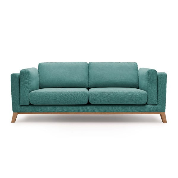 Turkusowa sofa 3-osobowa Bobochic Paris Enjoy