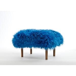 Stolička z ovčí kůže Bethan Cornflower Blue