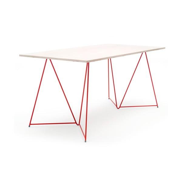 Červená podnož ke stolu Master & Master Diamond, 70x70cm