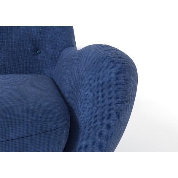 Tmavě modrá pohovka pro dva Wintech Zefir