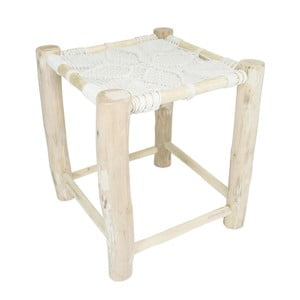 Bílá dřevěná stolička HF Living Star, 40x40cm