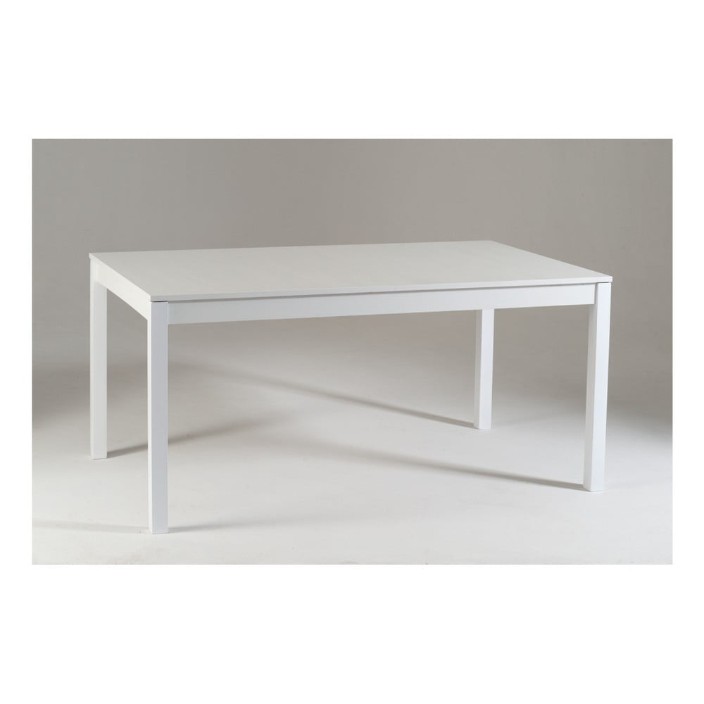 Bílý dřevěný rozkládací jídelní stůl Castagnetti Top, 160 cm