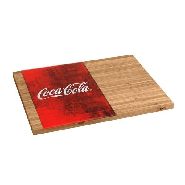 Coca-Cola World bambusz vágódeszka, piros üveg részlettel - Wenko