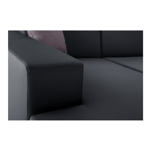 Antracitová rozkládací sedačka Interieur De Famille Paris Tresor, levý roh