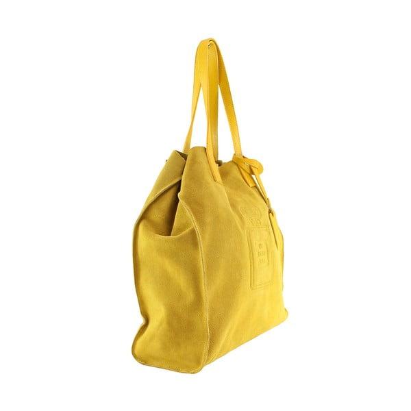 Kožená kabelka Perfume, žlutá