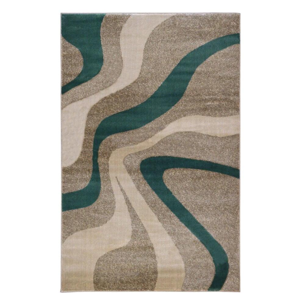 Šedý koberec Webtappeti Swirl Aqua,80x150cm