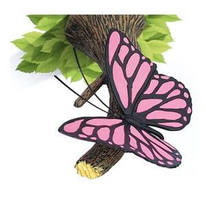 Veioză pentru perete cu autocolant Tnet Pink Butterly