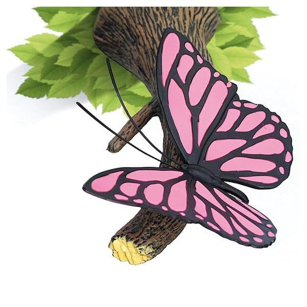 Nástěnné světlo s nálepkou Tnet Pink Butterly