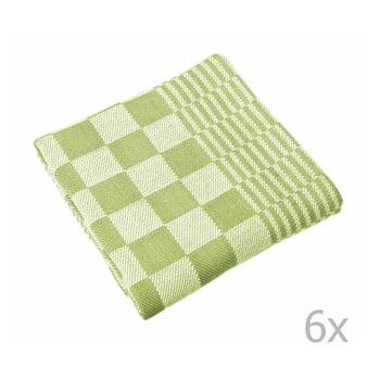 Set 6 prosoape Tiseco Home Studio Mineur, 65 x 65 cm, verde imagine