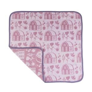 Růžovo-fialová dětská deka Sebra Farm Girl