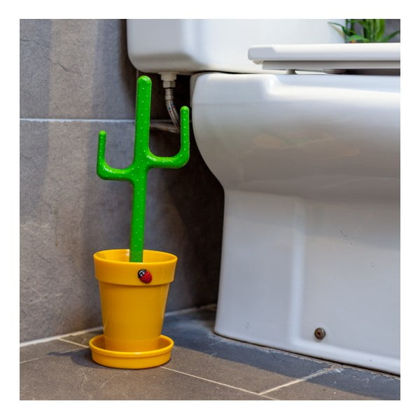 WC kartáč Cactus Yellow