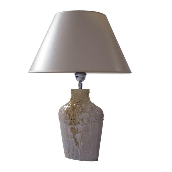 Stolní lampa Zdobená krémová