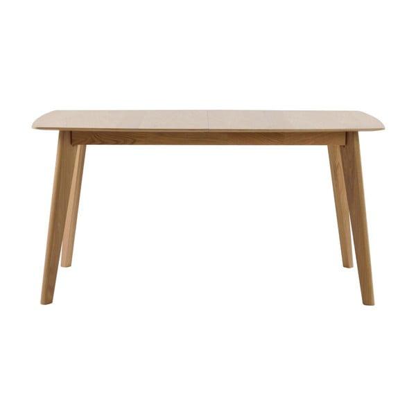 Dubový rozkládací jídelní stůl Rowico Frey, délka 150cm