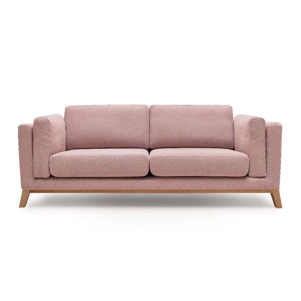 Różowa sofa 3-osobowa Bobochic Paris Enjoy
