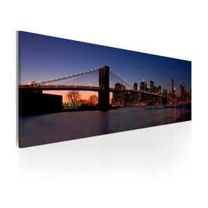 Obraz na plátně Artgeist Brooklyn Bridge, 120x40cm