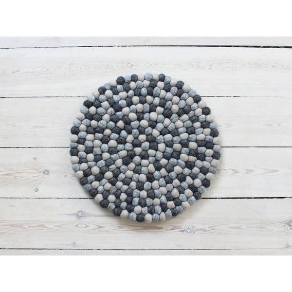 Ball Chair Pad sötétszürke golyós, gyapjú székpárna, ⌀ 39 cm - Wooldot
