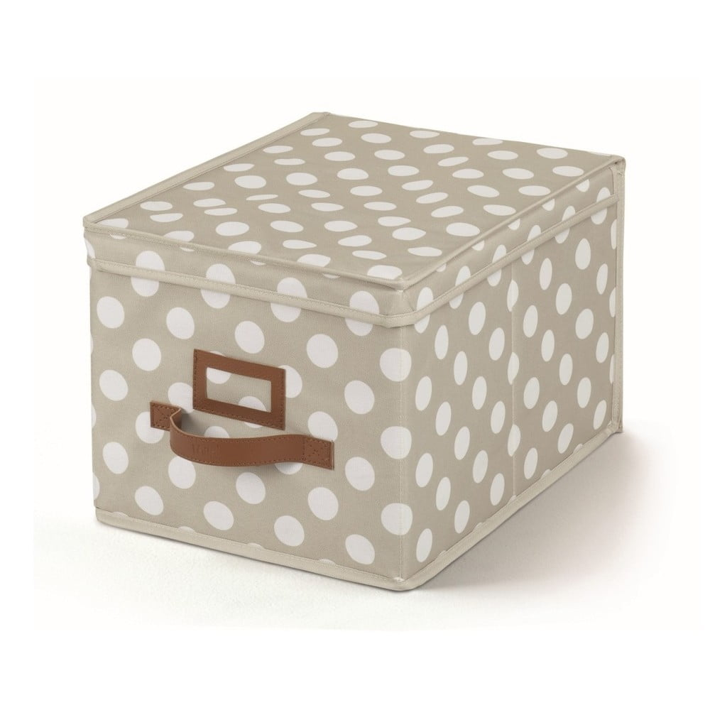 Béžový úložný box s víkem Cosatto Jolie, 25 x 40 cm