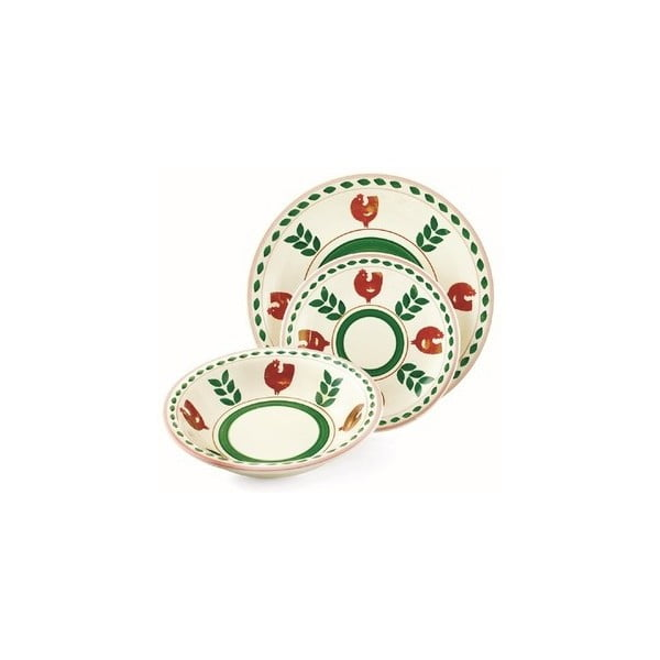 Hluboký talíř Arca zelený, 21 cm