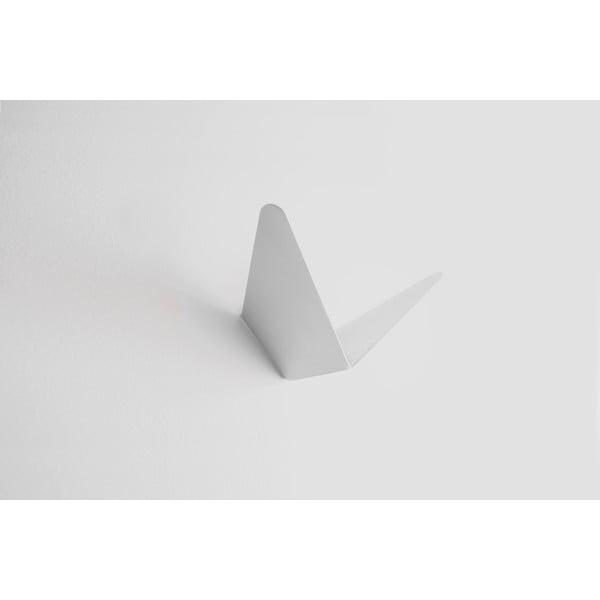 Bílý věšák s úložným prostorem Butterfly Small, 8,9x8,3 cm