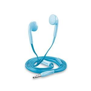 Modrá sluchátka Style&Color Cellularline Butterfly, plochý kabel, 3,5 mm jack