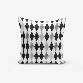 Față de pernă cu amestec din bumbac Minimalist Cushion Covers Black White Grey Elmas, 45 x 45 cm imagine