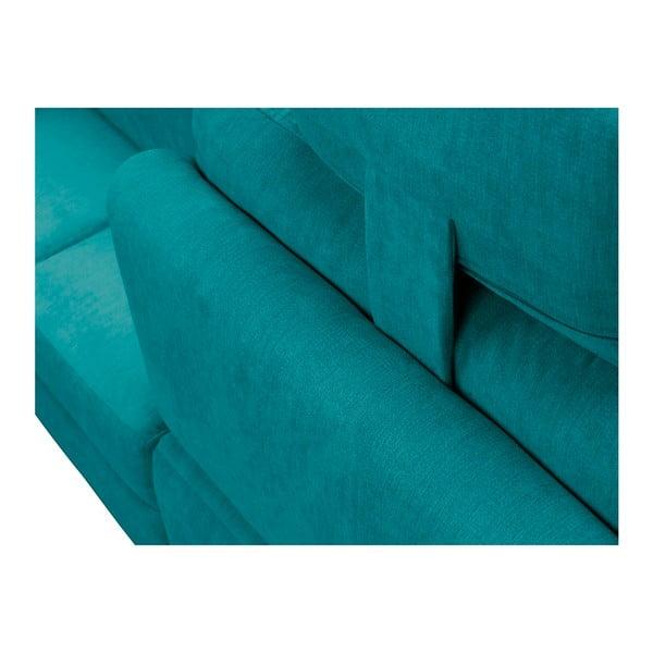 Tyrkysová rohová rozkládací pohovka Windsor & Co Sofas, pravý roh Alpha