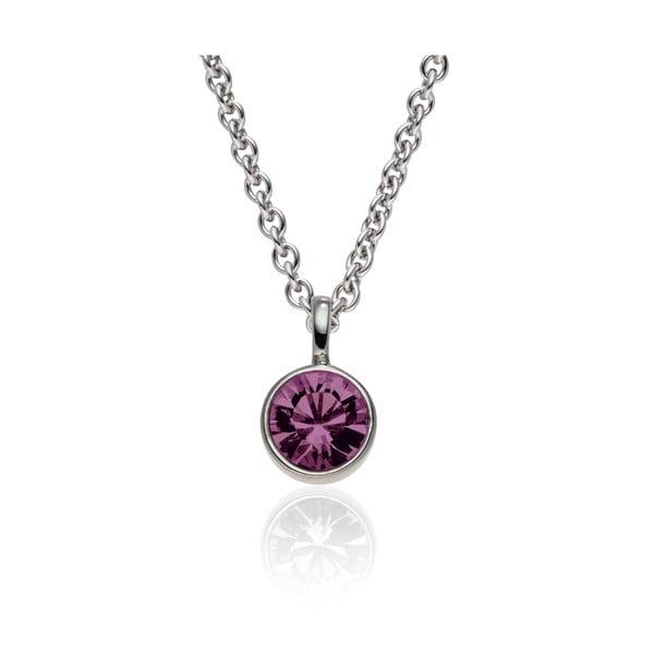 Sada náušnic a náhrdelníku Cut Violet