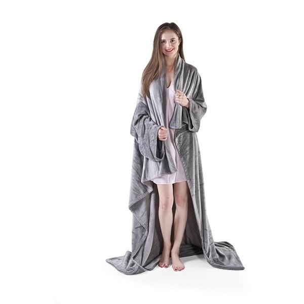 Lazy mikroszálas szürke takaró, 180 x 150 cm - DecoKing