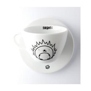 Hrneček na kávu s podšálkem FOR.REST Design Hedgehog,200ml