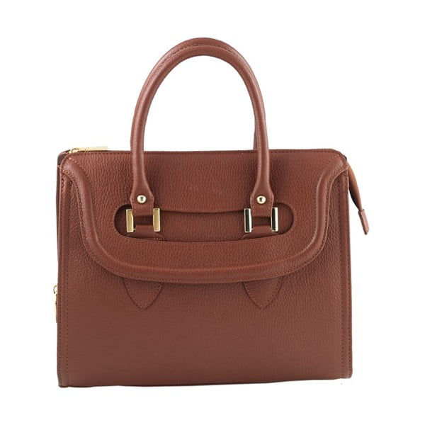 Kožená kabelka Andrea Cardone 946 Brown