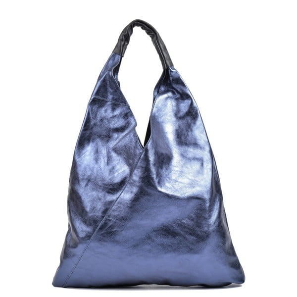 Modrá kožená kabelka Isabella Rhea Duroto