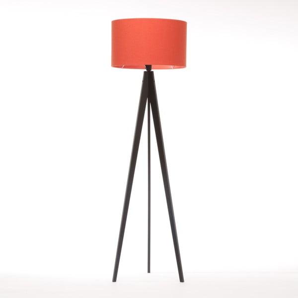 Stojací lampa Artist Red Felt/Black Birch, 125x42 cm