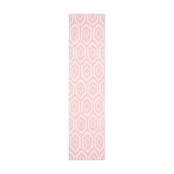 Vlněný koberec Safavieh Casablanca Rosa, 76x243 cm