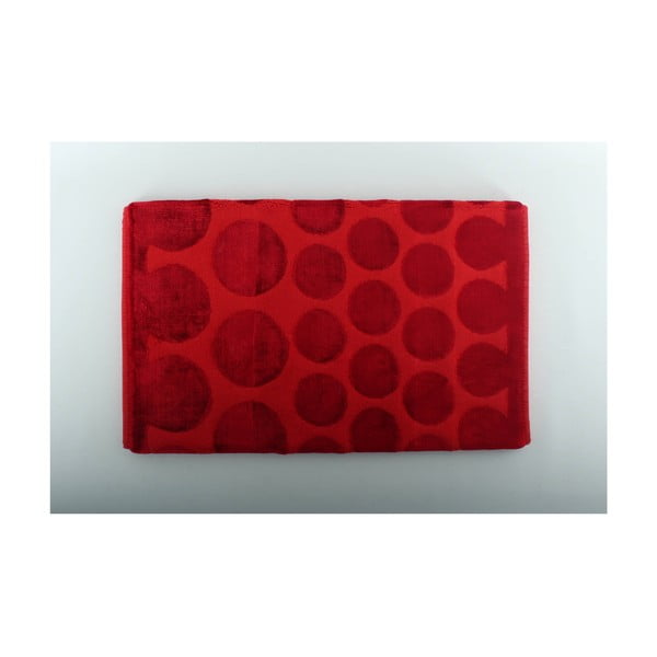 Červená koupelnová předložka U. S. Polo Assn. Orem, 60x100cm