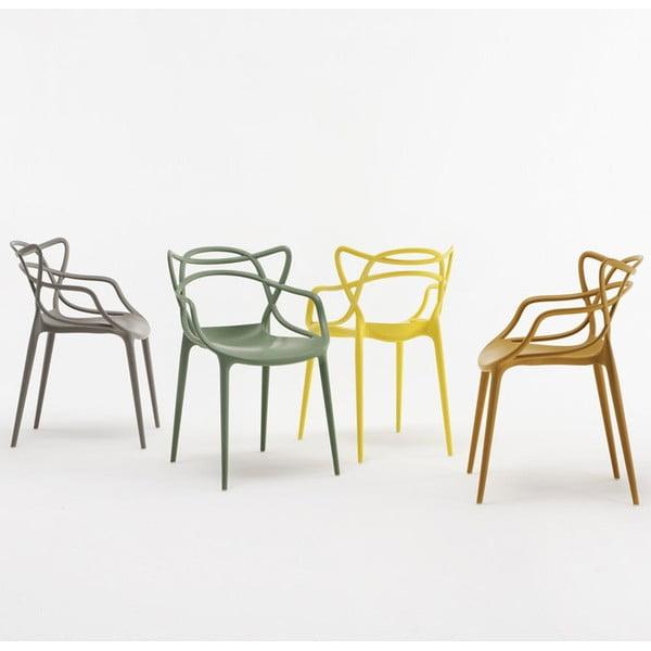 Oranžová jídelní židle Kartell Masters