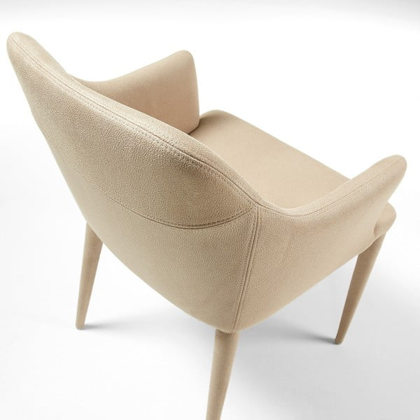 Sada 2 béžových židlí La Forma Danai
