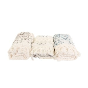 Sada 4 modrobílých ručníků Marcelo