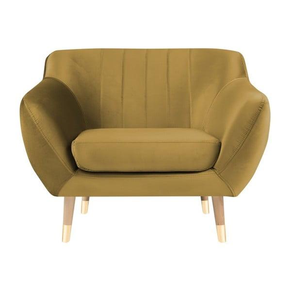 Fotel w kolorze złota Mazzini Sofas Benito