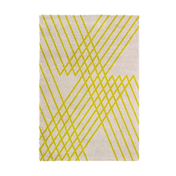 Žlutý koberec Chiffon, 80x150cm