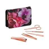Černý manikúrní set s detaily v růžovozlaté barvě Ted Baker Splendour