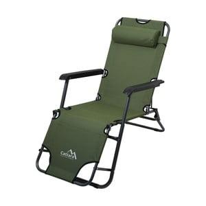 Zelené skládací kempingové lehátko / křeslo Cattara Comfort
