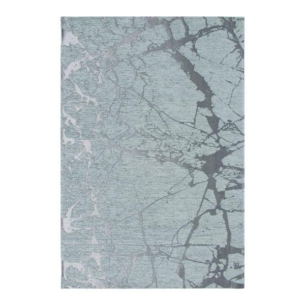 Szaroniebieski dywan Eco Rugs Marble, 135x200cm
