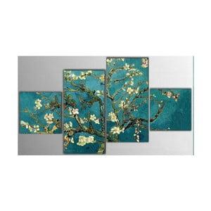 4dílný obraz Art Flowers, 50x100 cm