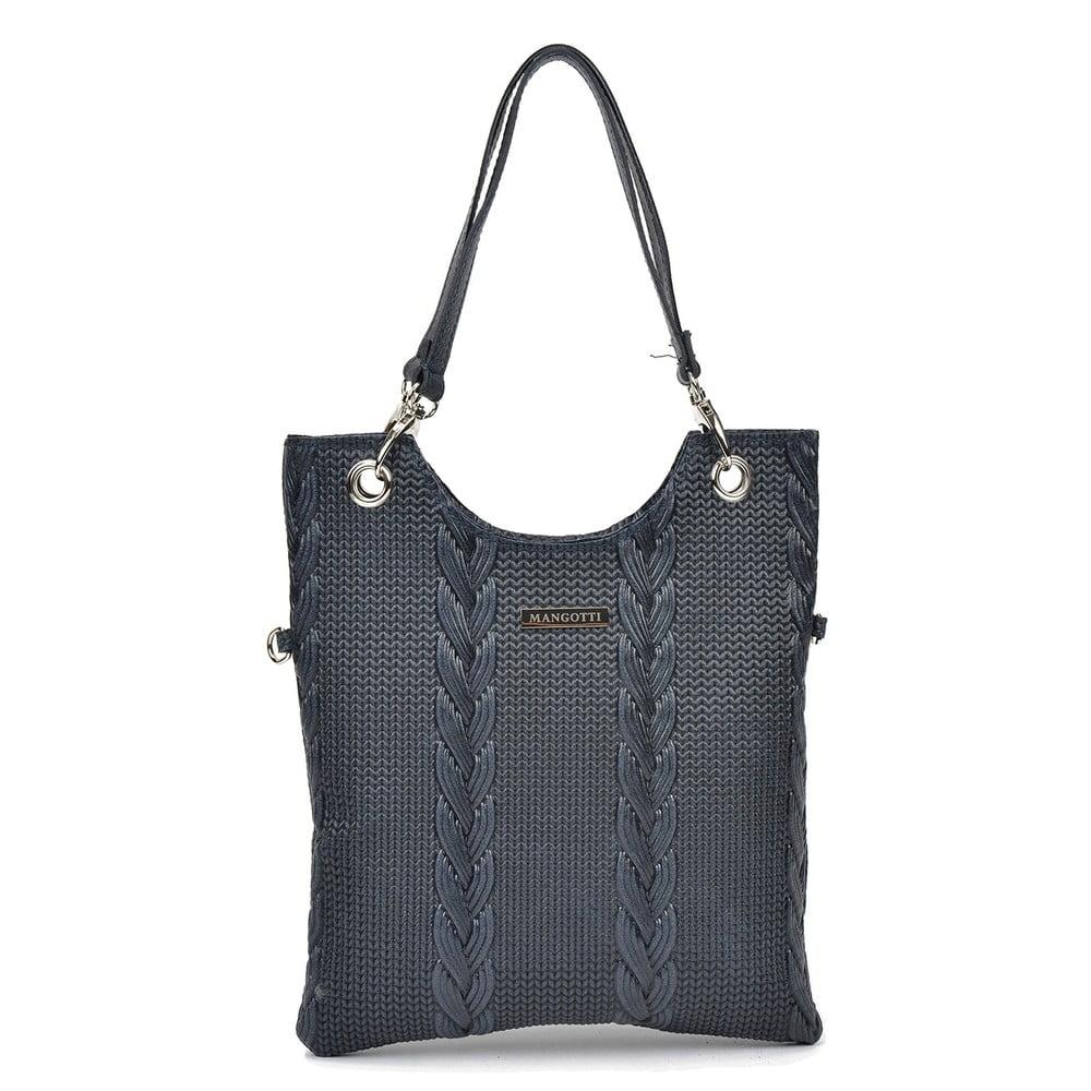 Černá kožená kabelka Mangotti Nella