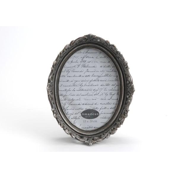 Fotorámeček Oval Silver, 15x20 cm