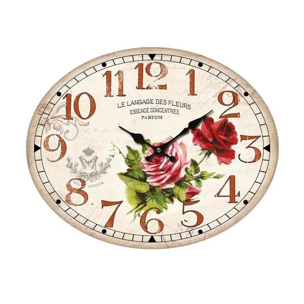 Oválné nástěnné hodiny Bolzonella Rosaio