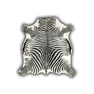 Kožená předložka s motivem zebry Pipsa Normand Cow, 210x220 cm